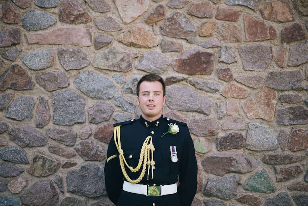 Groom in uniform - Sami Tipi Wedding - Image by Kathryn Edwards