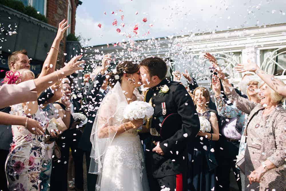Confetti Shot - Sami Tipi Wedding - Image by Kathryn Edwards