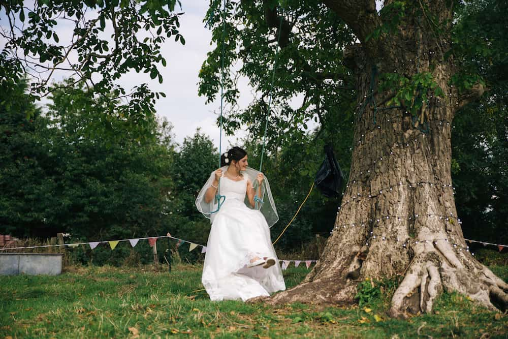 tree swing - Sami Tipi Wedding - Image by Kathryn Edwards