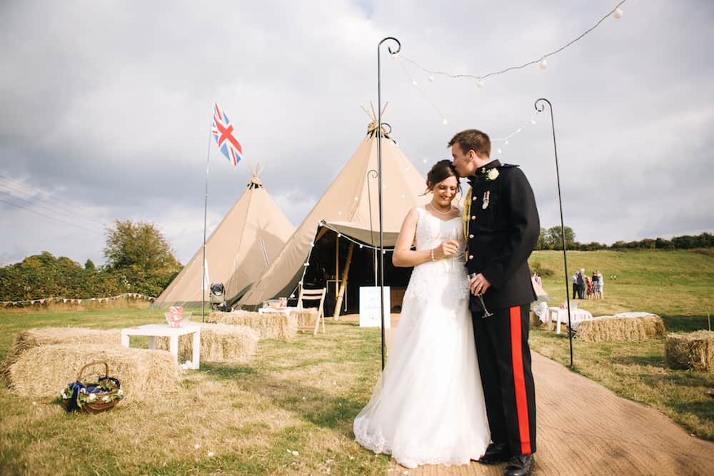 Rotherby Tipi Wedding Celebration, Leicestershire
