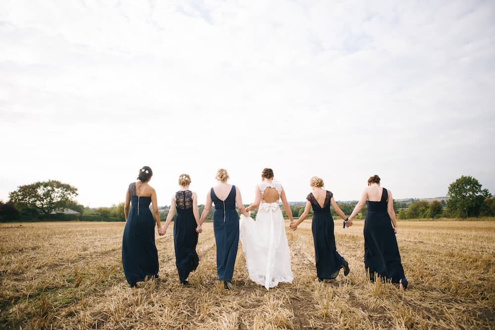 bride and bridesmaids - Sami Tipi Wedding - Image by Kathryn Edwards