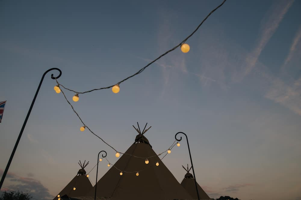 tipis at dusk - Sami Tipi Wedding - Image by Kathryn Edwards