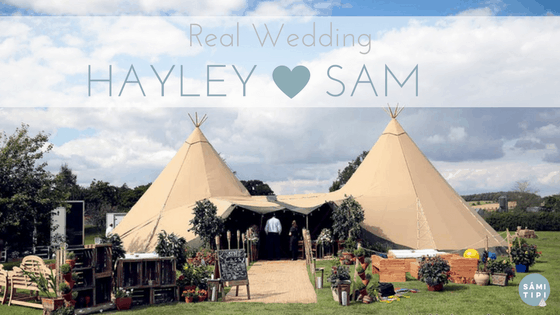 Hayley & Sam's Sami Tipi Wedding at Bawdon Lodge Farm