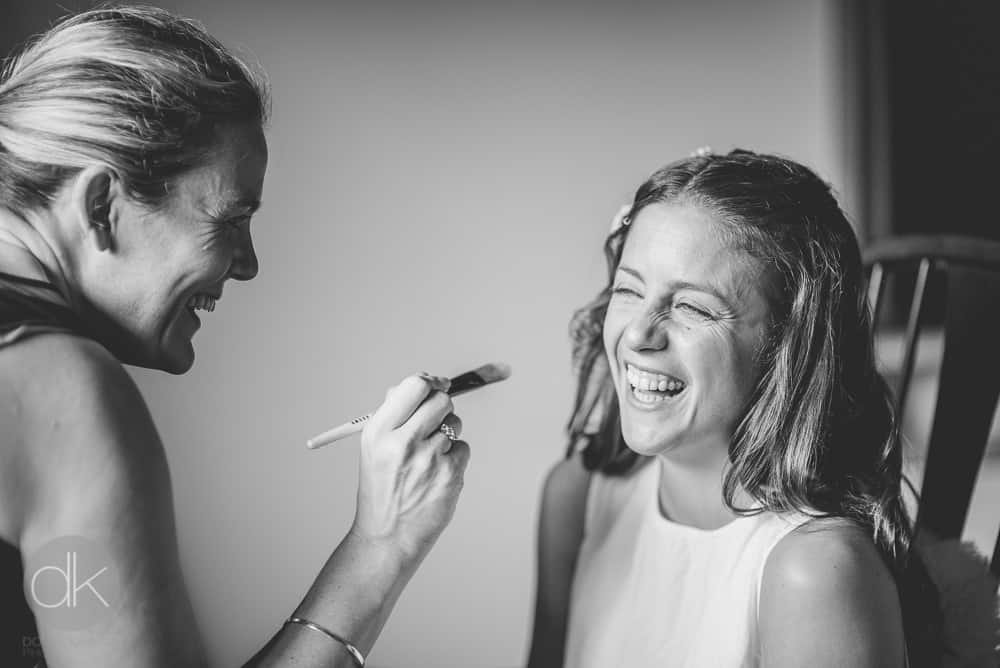 Bride getting ready - Sami Tipi Wedding in Buckinghamshire - Captured by DK Wedding Photography