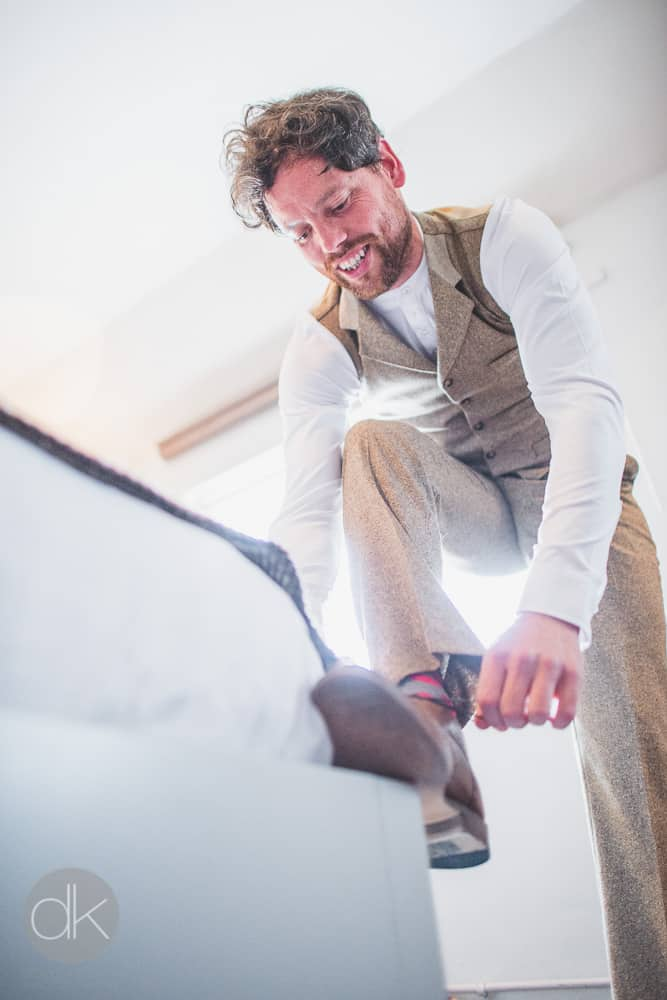 Groom getting ready - Sami Tipi Wedding in Buckinghamshire - Captured by DK Wedding Photography