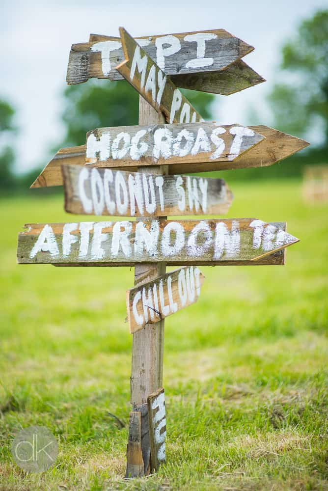Rustic DIY Wedding sign - Sami Tipi Wedding in Buckinghamshire - Captured by DK Wedding Photography