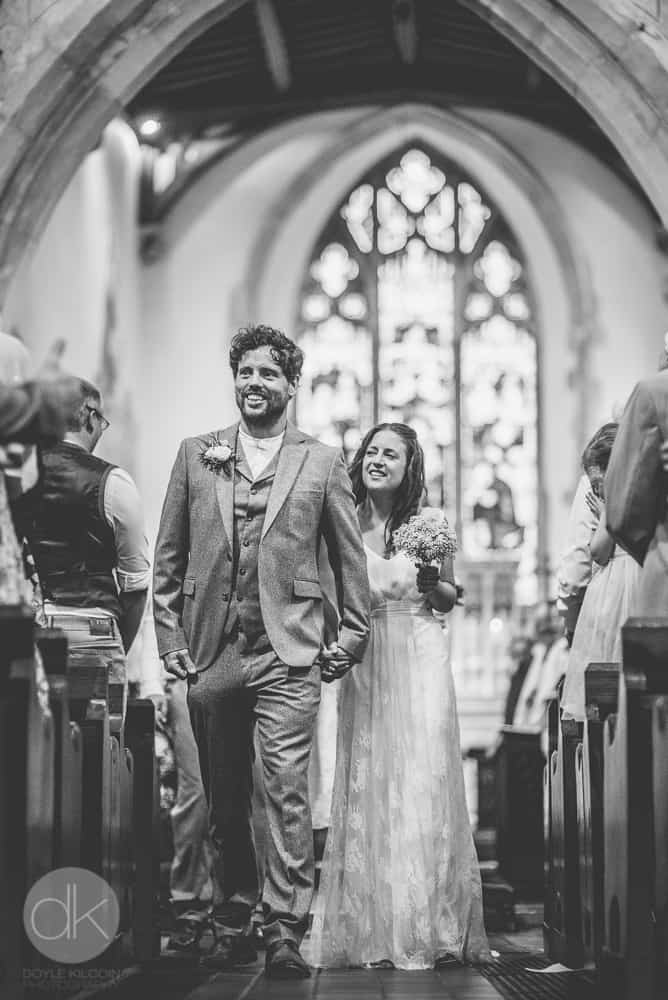Arriving at church - Sami Tipi Wedding in Buckinghamshire - Captured by DK Wedding Photography