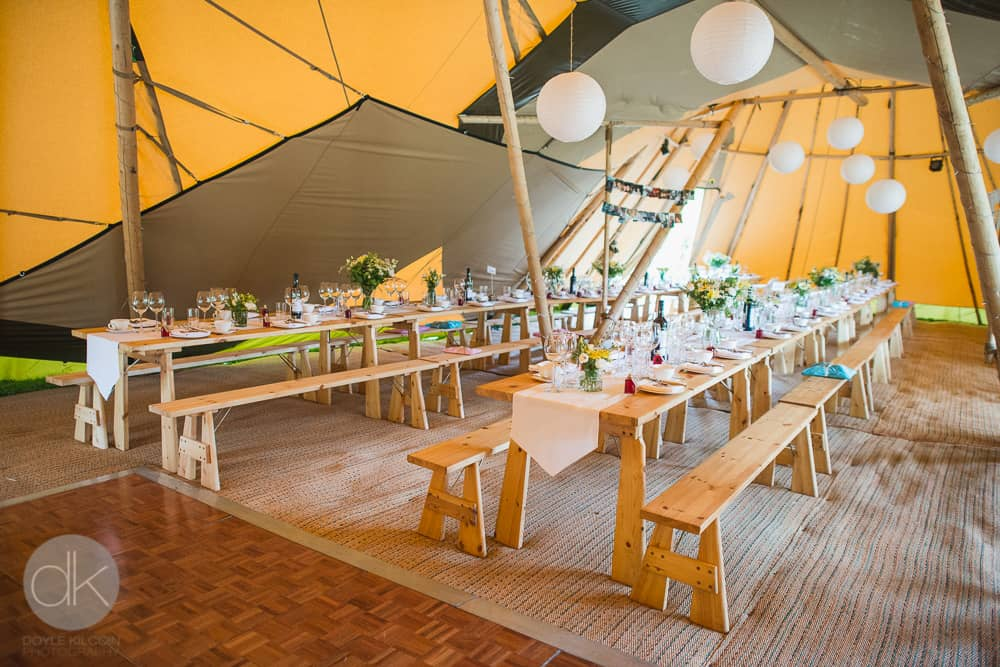 Tipi internal - Sami Tipi Wedding in Buckinghamshire - Captured by DK Wedding Photography