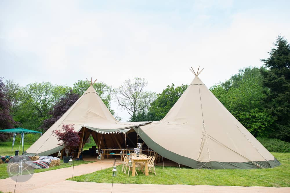 2 Giant Hat Tipi Wedding by Sami Tipi in Buckinghamshire - Captured by DK Wedding Photography