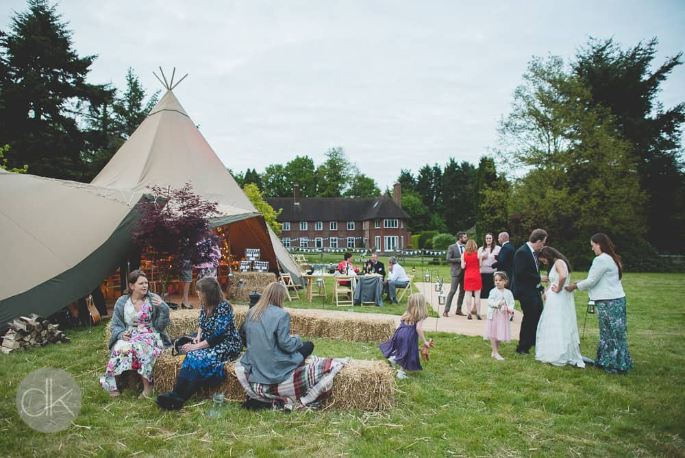 relaxed tipi wedding - Sami Tipi Wedding in Buckinghamshire - Captured by DK Wedding Photography