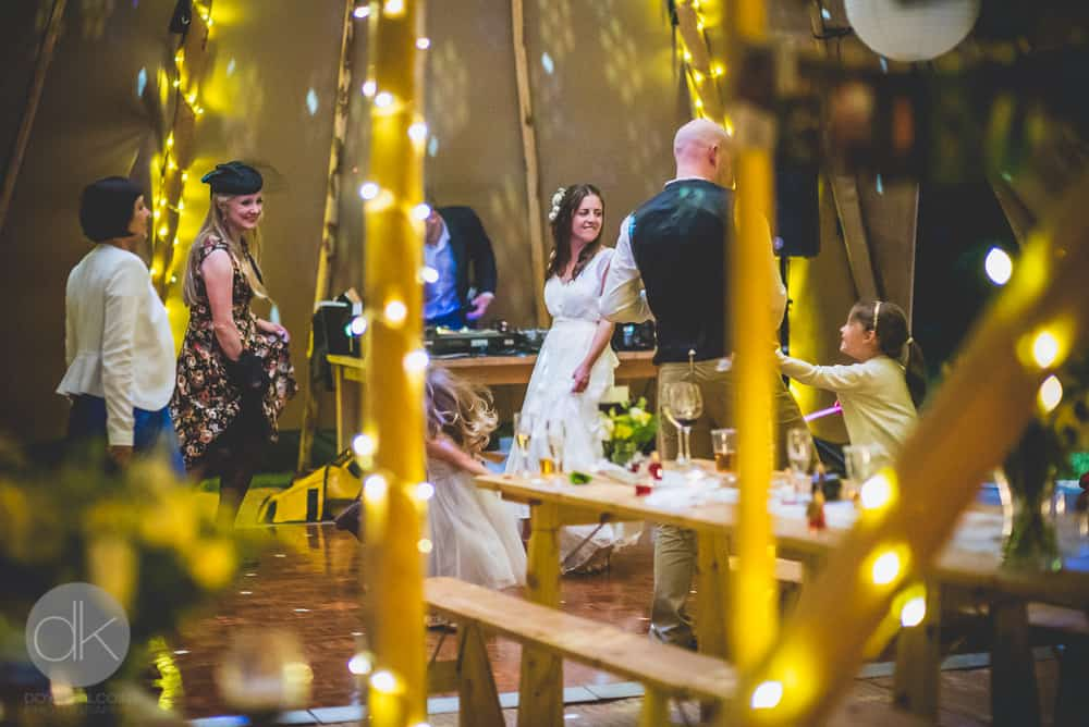 Tipi internal by night - Sami Tipi Wedding in Buckinghamshire - Captured by DK Wedding Photography
