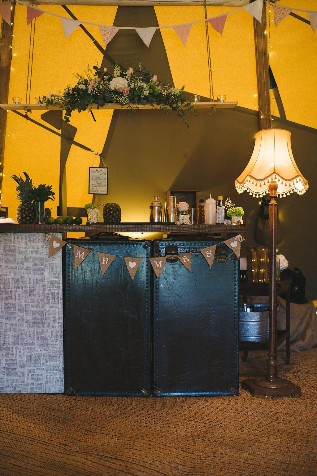 Mambo Mobile Bars Vintage Bar Setup within Tipi