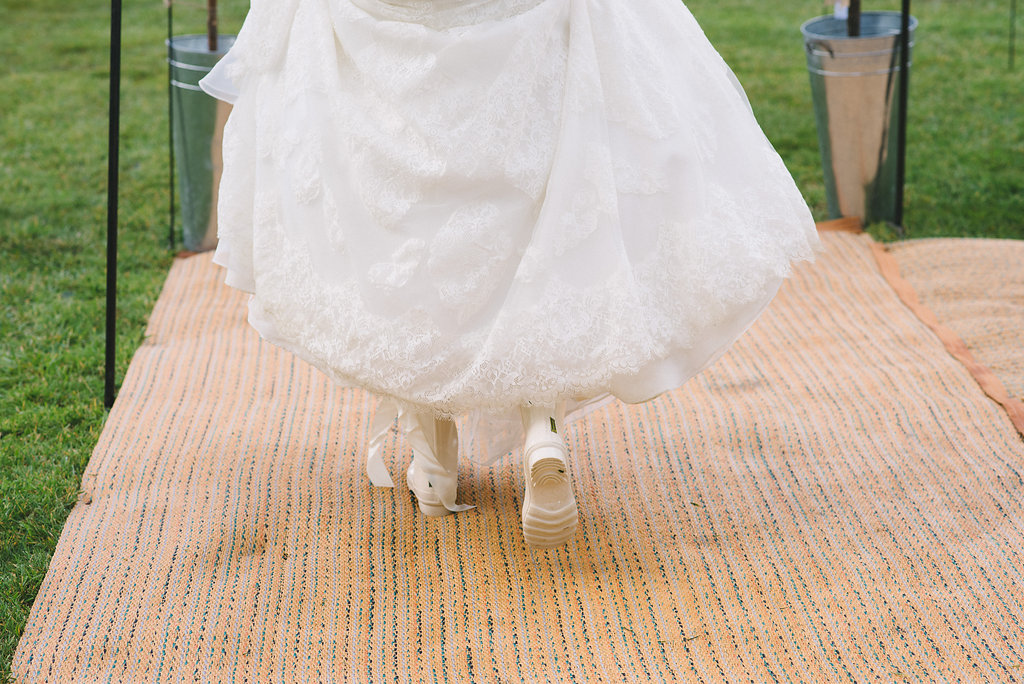 Spring Tipi Wedding with Wellies