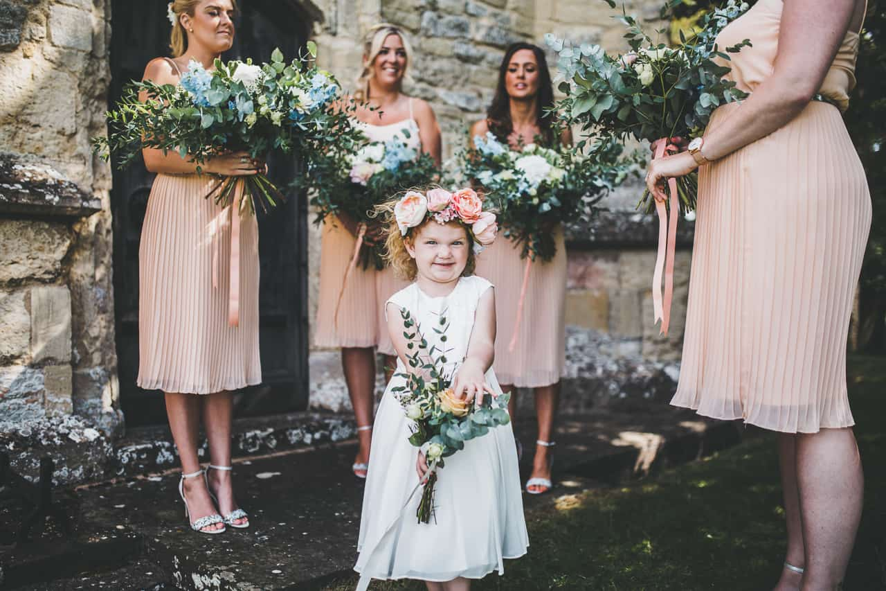 blush bridesmaid dresses - Sami Tipi wedding by Frankee Victoria