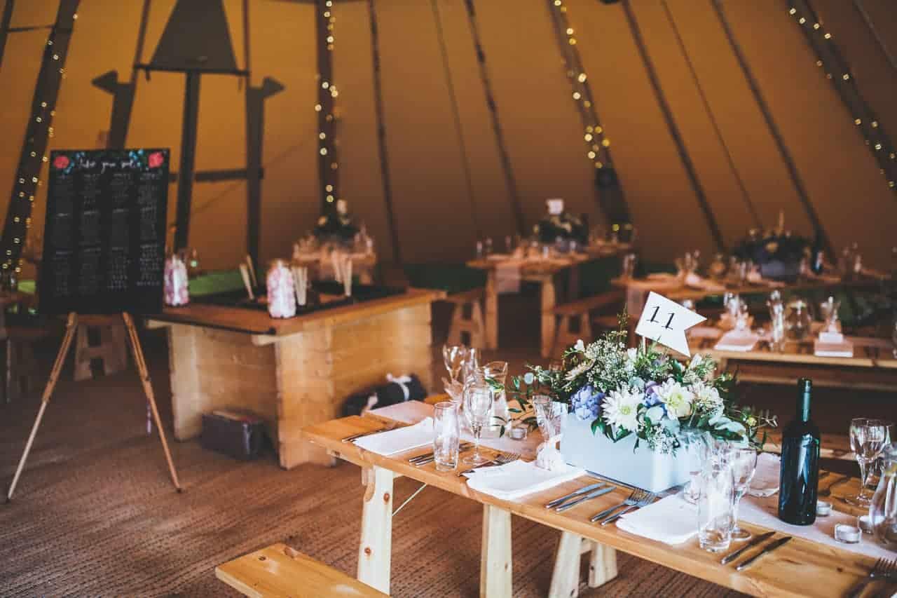 two giant hat tipi set up - Sami Tipi wedding by Frankee Victoria