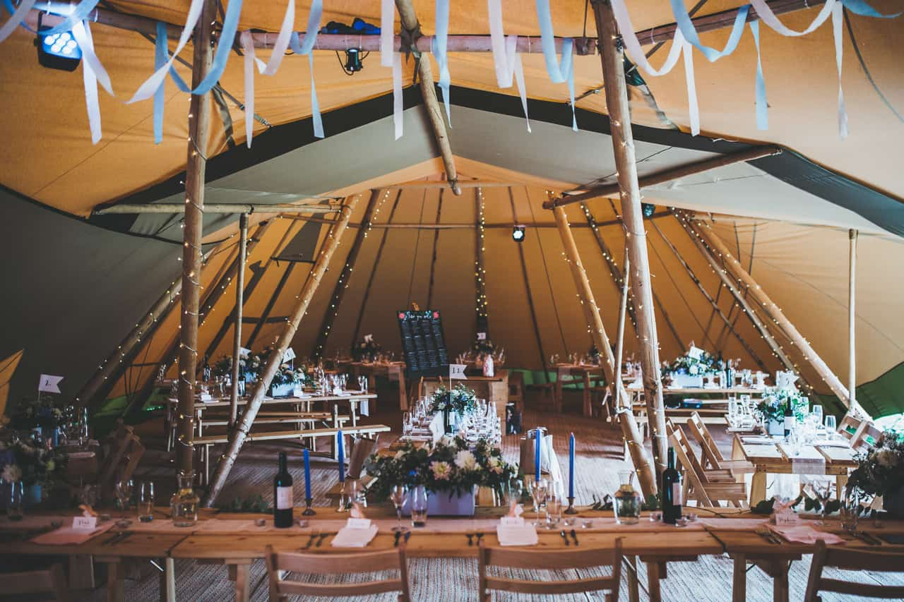 two giant hat tipis internal - Sami Tipi wedding by Frankee Victoria
