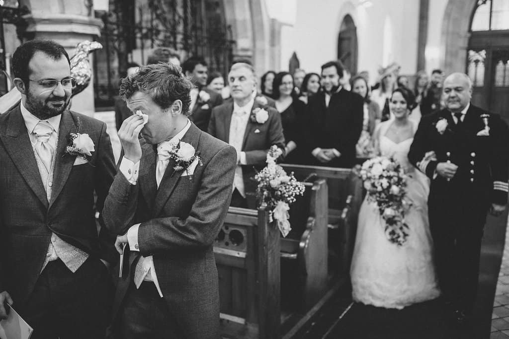 First look at church - Sami Tipi Wedding by london-weddingphotographer