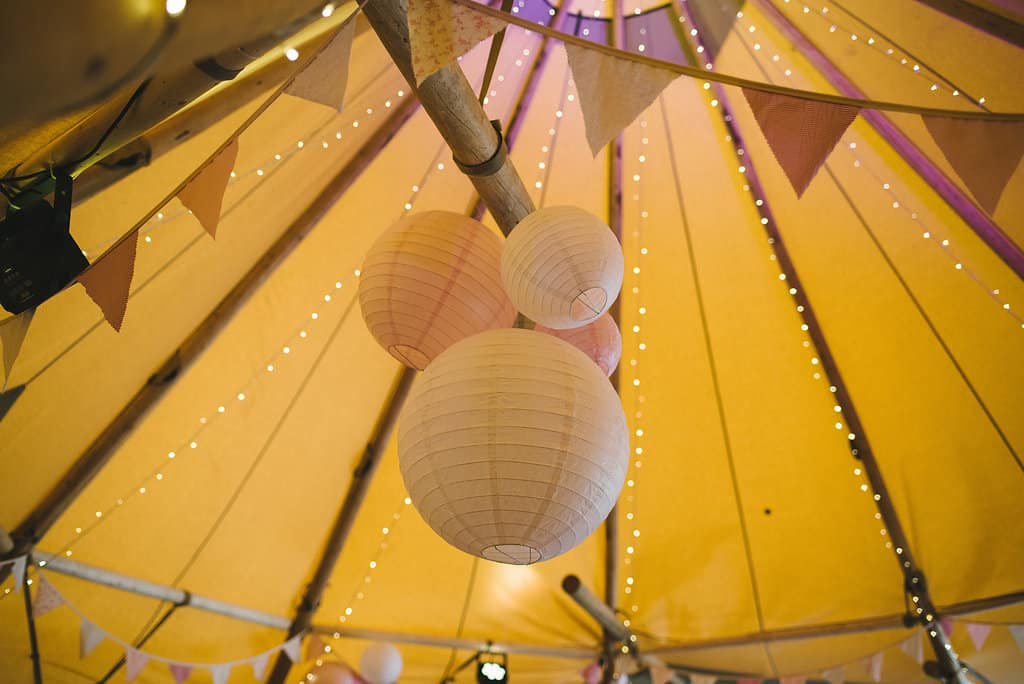 Tipi Hanging decorations - Sami Tipi Wedding by london-weddingphotographer