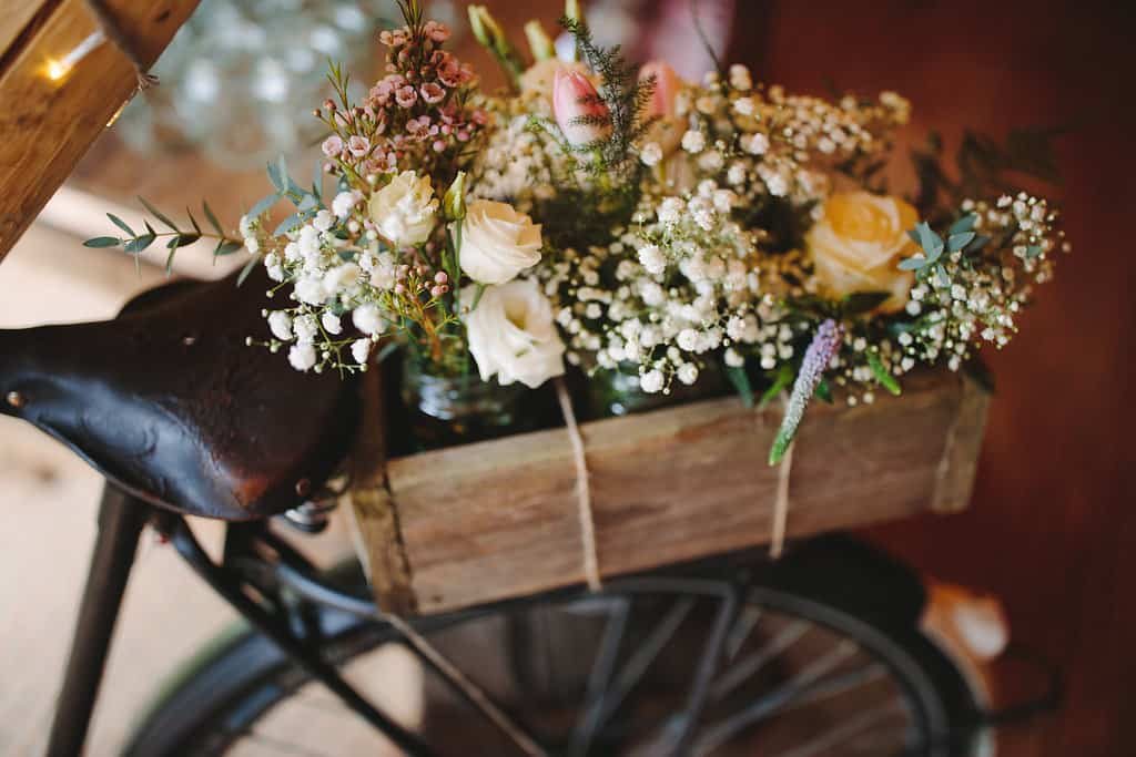Bicycle floral display - Sami Tipi Wedding by london-weddingphotographer
