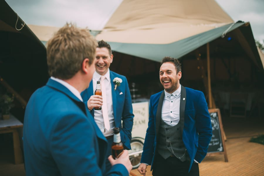 Grooms getting ready - Sami Tipi Leicestershire wedding - captured by Jonathan Flint Photography