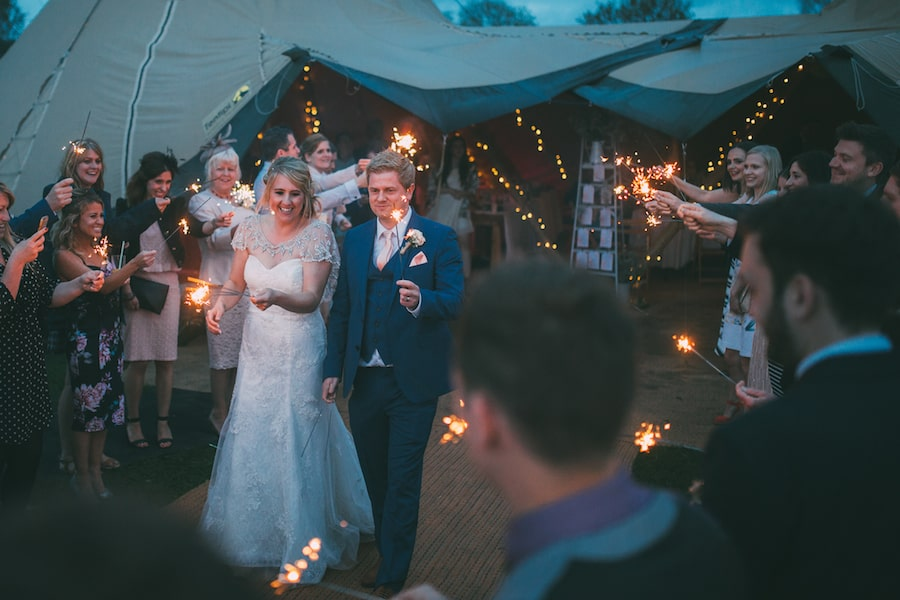 Tipi at night - Sami Tipi Leicestershire wedding - captured by Jonathan Flint Photography
