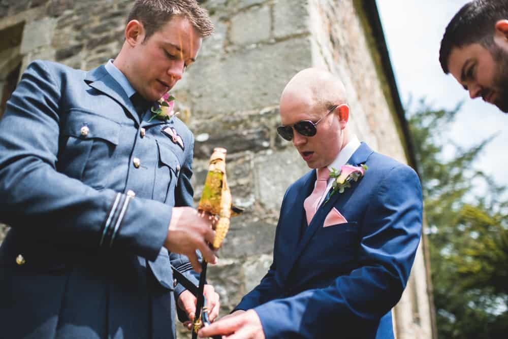 The Boys arriving at church - Sami Tipi Wedding Ilam Derbyshire, Captured by Martin Makowski