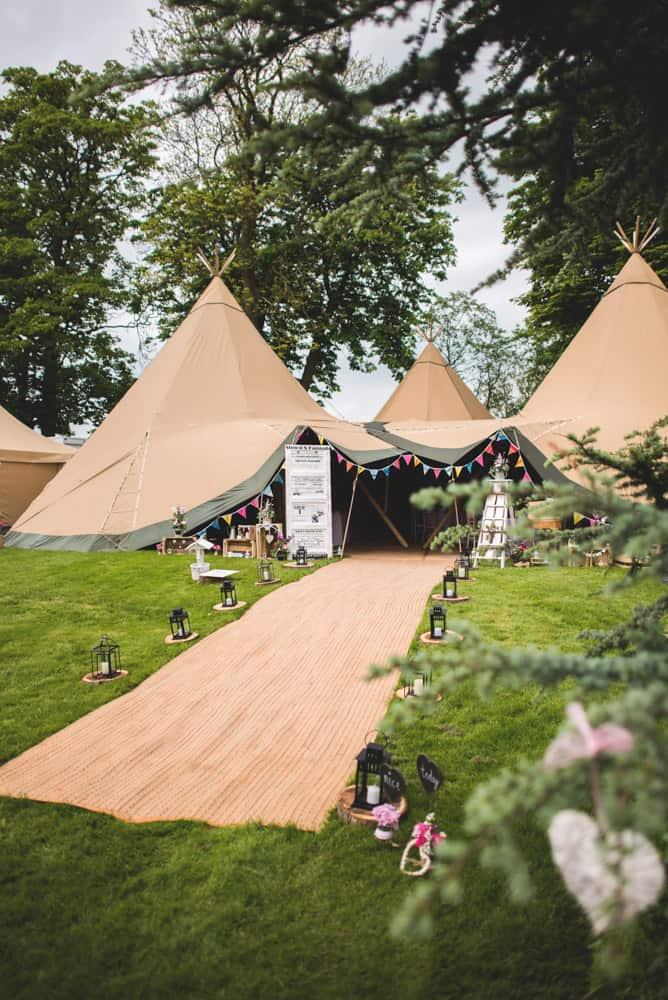 Ilam Derbyshire Tipi Wedding