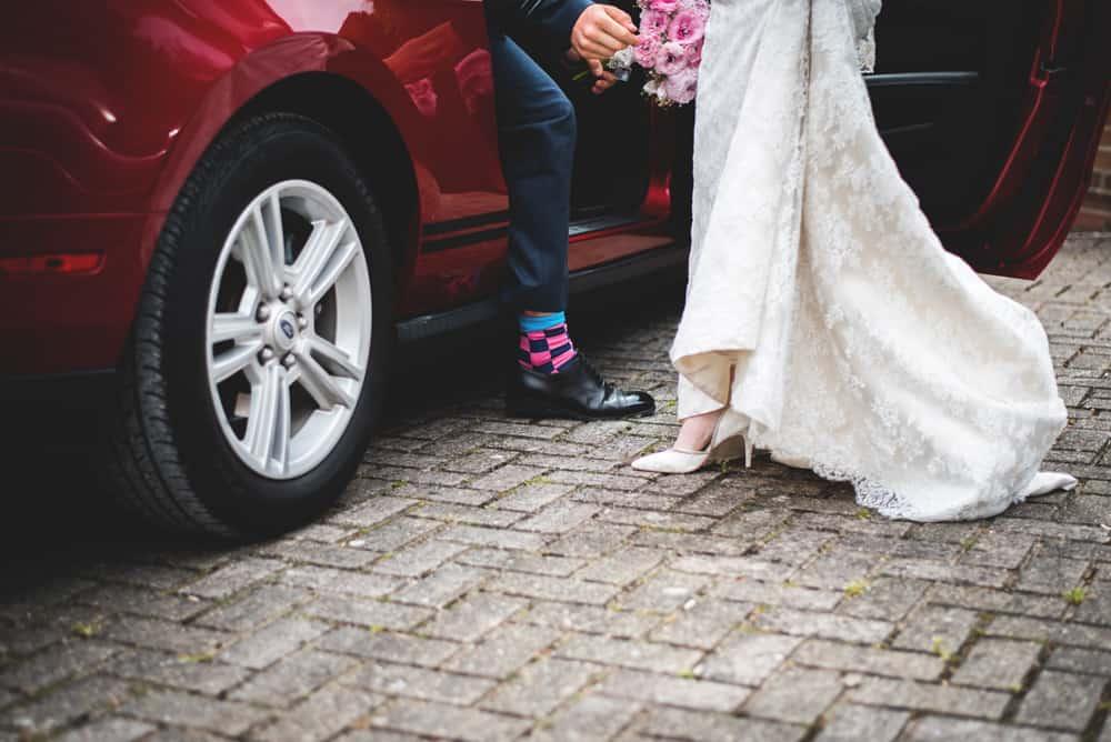 Arriving at the tipis - Sami Tipi Wedding Ilam Derbyshire, Captured by Martin Makowski