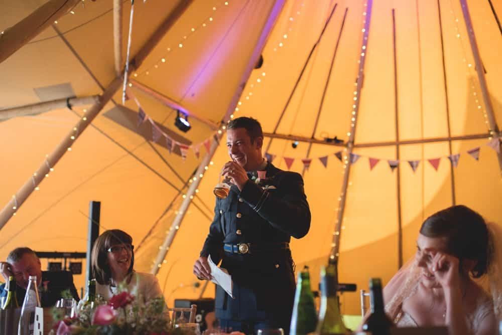Speeches - Sami Tipi Wedding Ilam Derbyshire, Captured by Martin Makowski