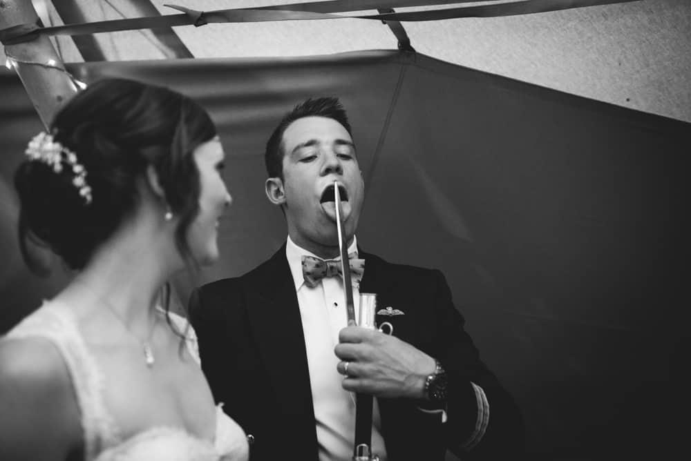 Cake Cutting - Sami Tipi Wedding Ilam Derbyshire, Captured by Martin Makowski