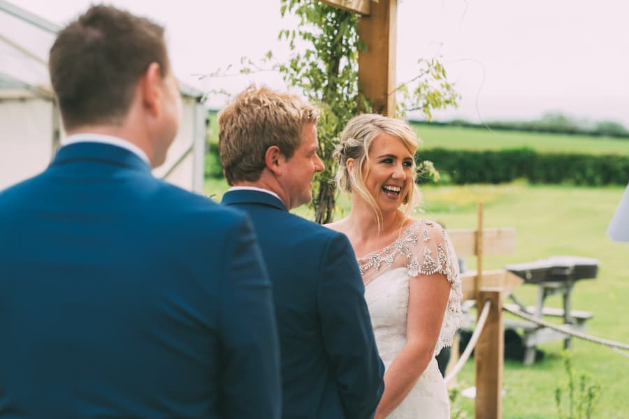 First look from Dad Sami Tipi Leicestershire wedding - captured by Jonathan Flint Photography