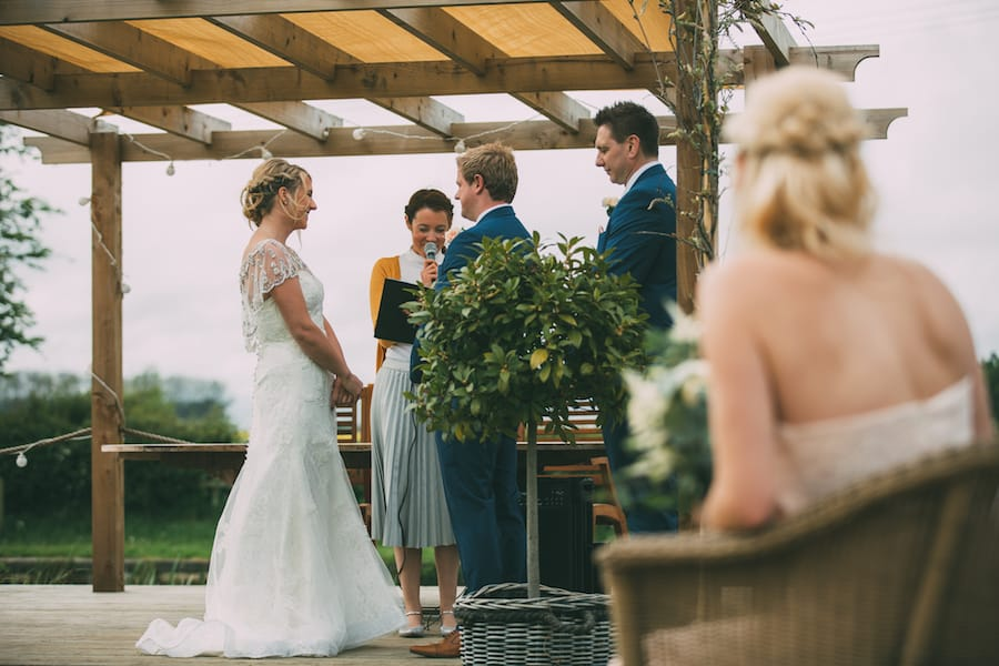 Outdoor Ceremony - Sami Tipi Leicestershire wedding - captured by Jonathan Flint Photography