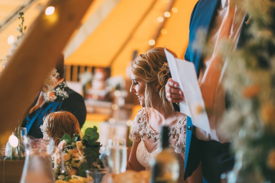 Time for Speeches - Sami Tipi Leicestershire wedding - captured by Jonathan Flint Photography