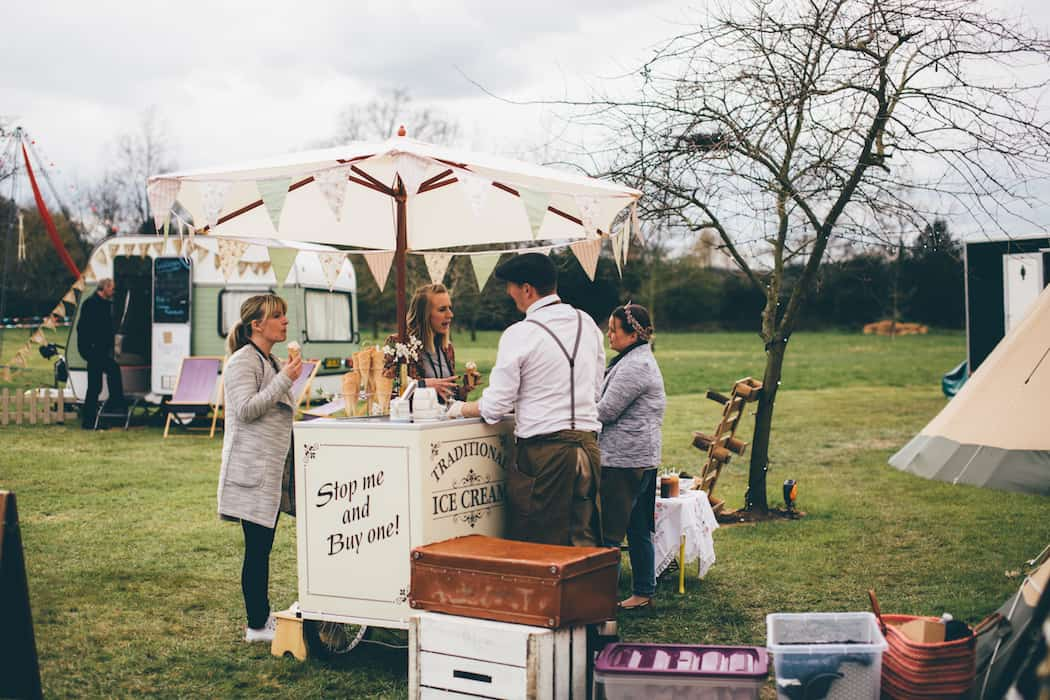 Sami Tipi Spring Showcase |Honeybees Vintage Teas Ice Cream Treats | Captured by Christopher Terry Photography
