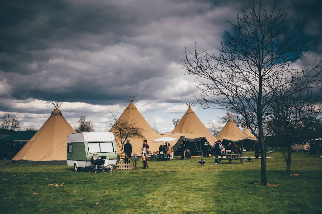 Sami Tipi Spring Showcase |3 Giant Hat Tipis with chill-out Tipi | Captured by Christopher Terry Photography