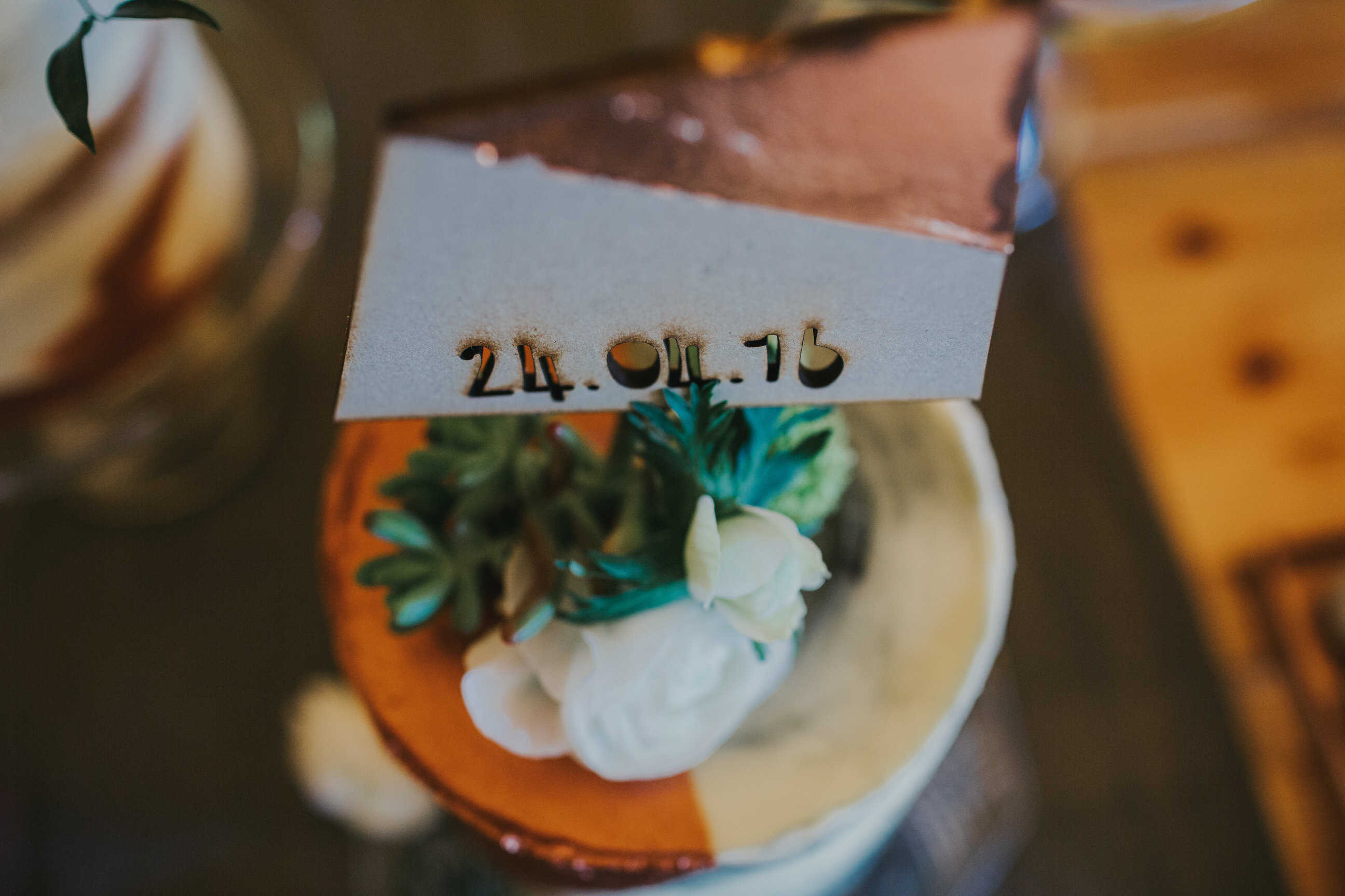 Copper Cake Topper- by Sami Tipi captured by Ed Brown Photography