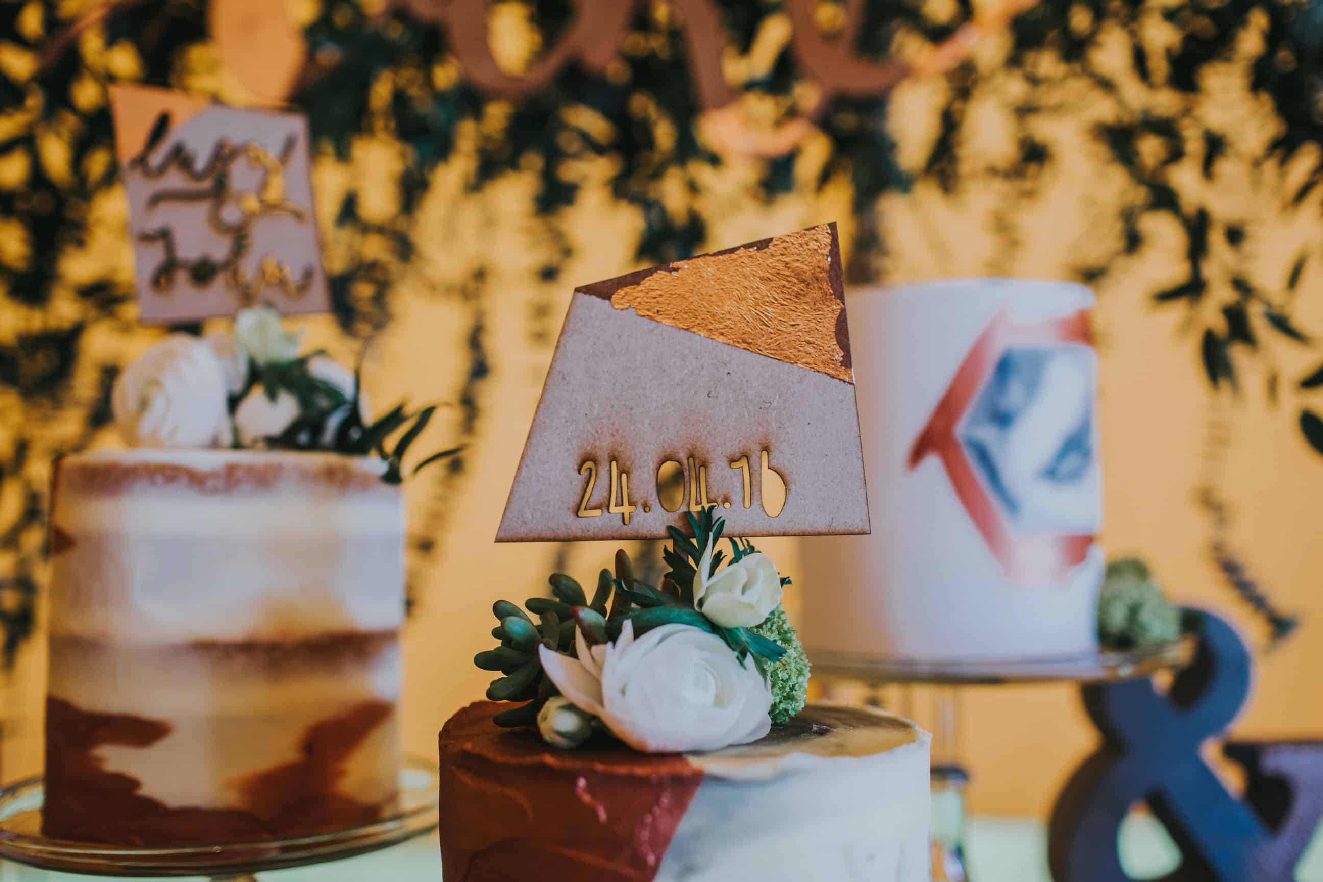 Copper Cake display by Yummy Little Cakes- by Sami Tipi captured by Ed Brown Photography