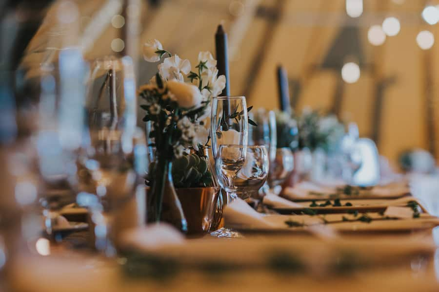 Tipi table scape - Sami Tipi Showcase captured by Ed Brown Photography