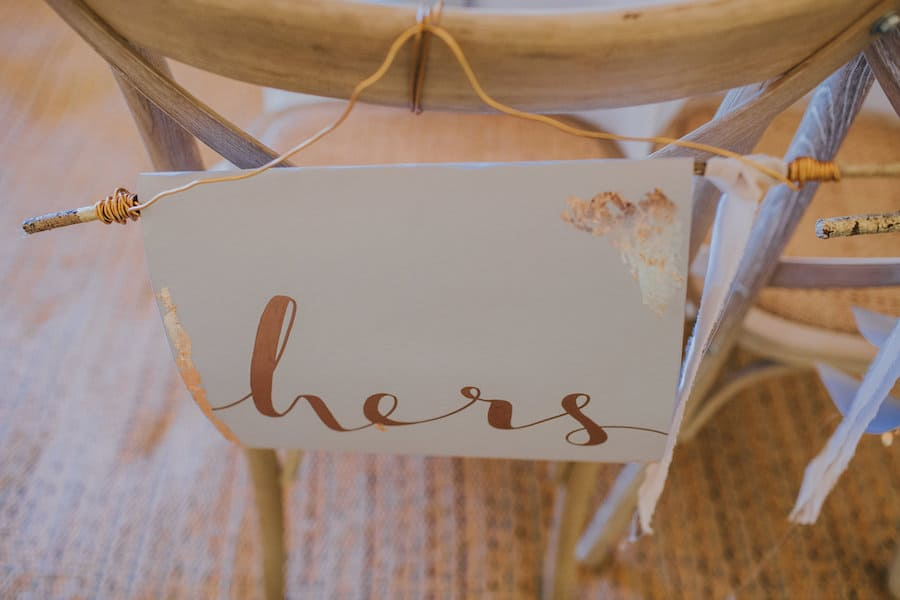 Crossback chair sign - Sami Tipi Showcase captured by Ed Brown Photography