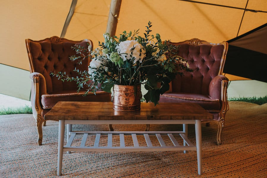 chill-out area Sami Tipi Showcase captured by Ed Brown Photography