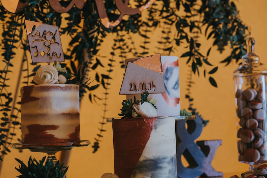 Cake table - Sami Tipi Showcase captured by Ed Brown Photography