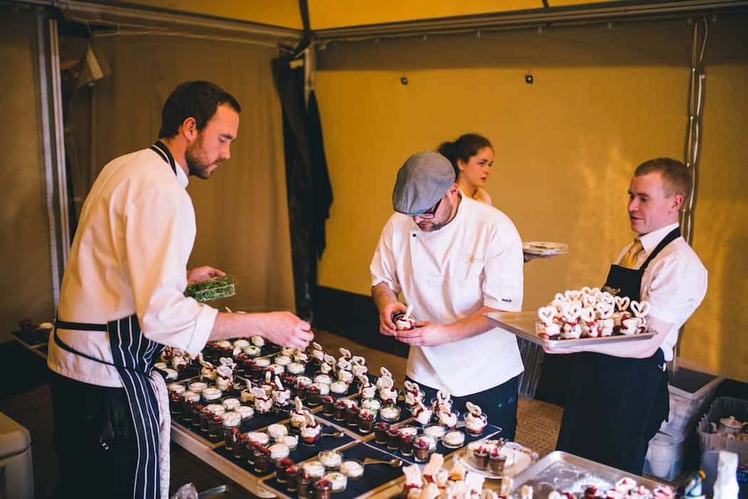 Wedding Food by Thomas The Caterer - Sami Tipi Wedding at Bawdon Lodge Farm captured by Matt Brown Photography