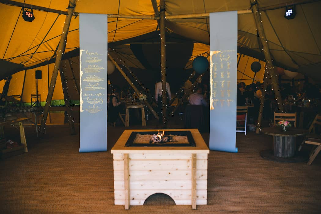 Tipi Entrance - Sami Tipi Wedding at Bawdon Lodge Farm captured by Matt Brown Photography