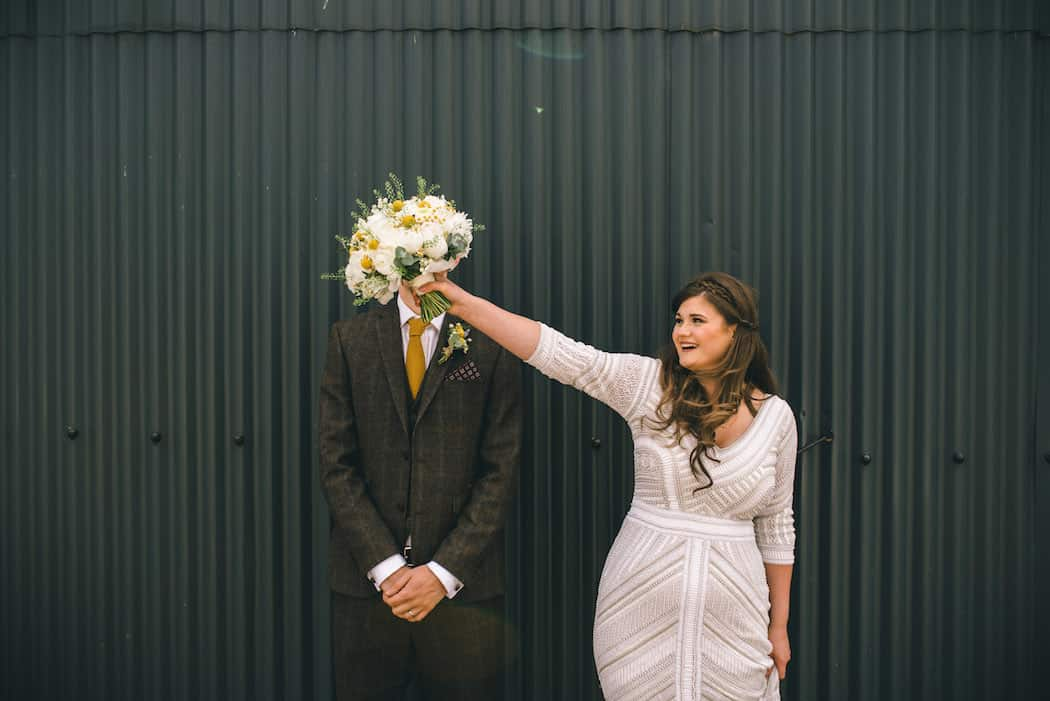 The Couple - Sami Tipi Wedding at Bawdon Lodge Farm captured by Matt Brown Photography
