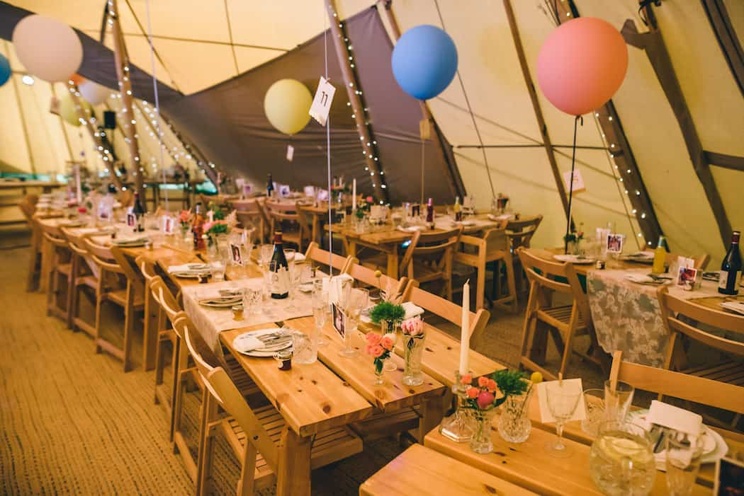 Tipi Styling ideas - Sami Tipi Wedding at Bawdon Lodge Farm captured by Matt Brown Photography