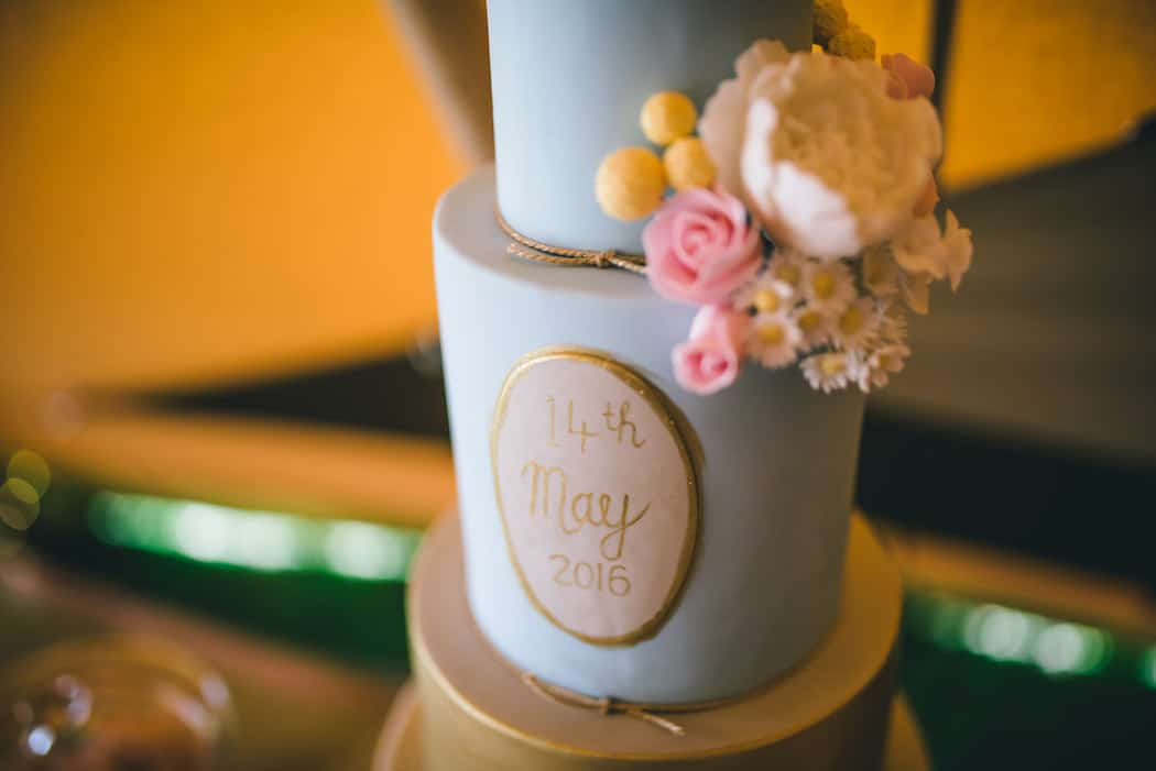Cake Display - Sami Tipi Wedding at Bawdon Lodge Farm captured by Matt Brown Photography