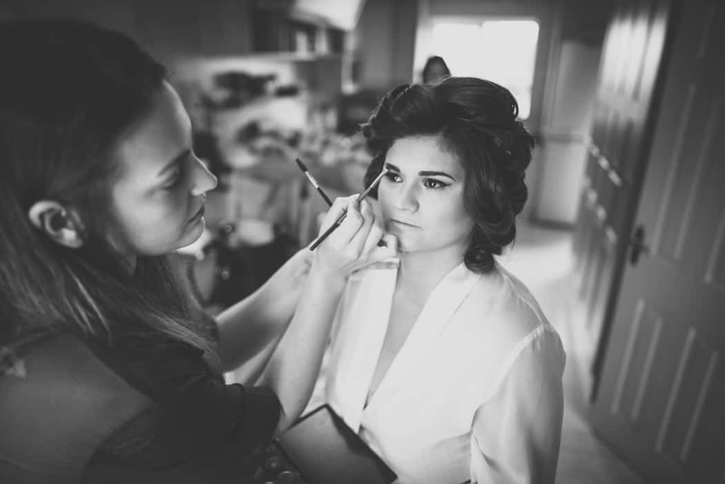 Bride Getting Ready - Sami Tipi Wedding at Bawdon Lodge Farm captured by Matt Brown Photography
