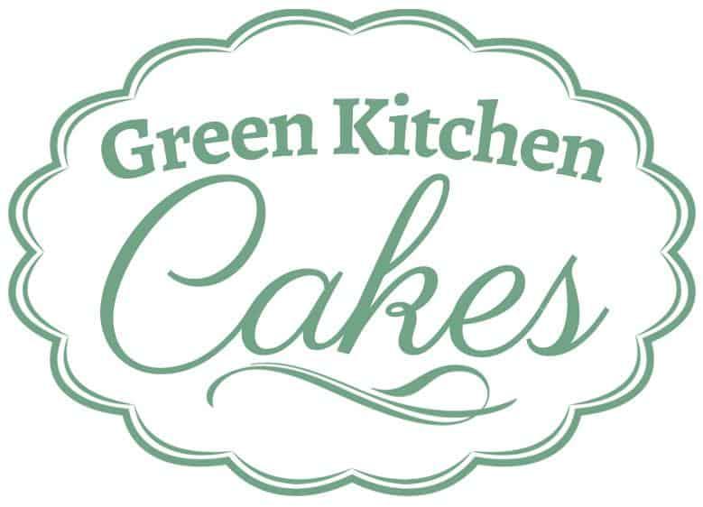 green kitchen cakes Logo