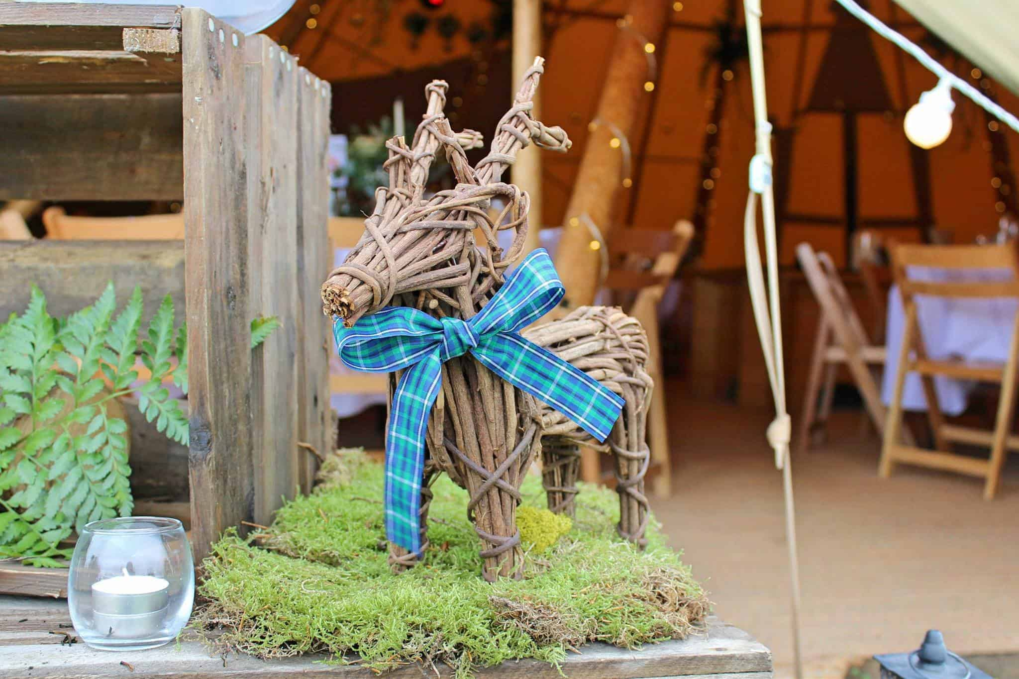 Highland Stag - Woodland themed styling by The Rustic Wedding Company