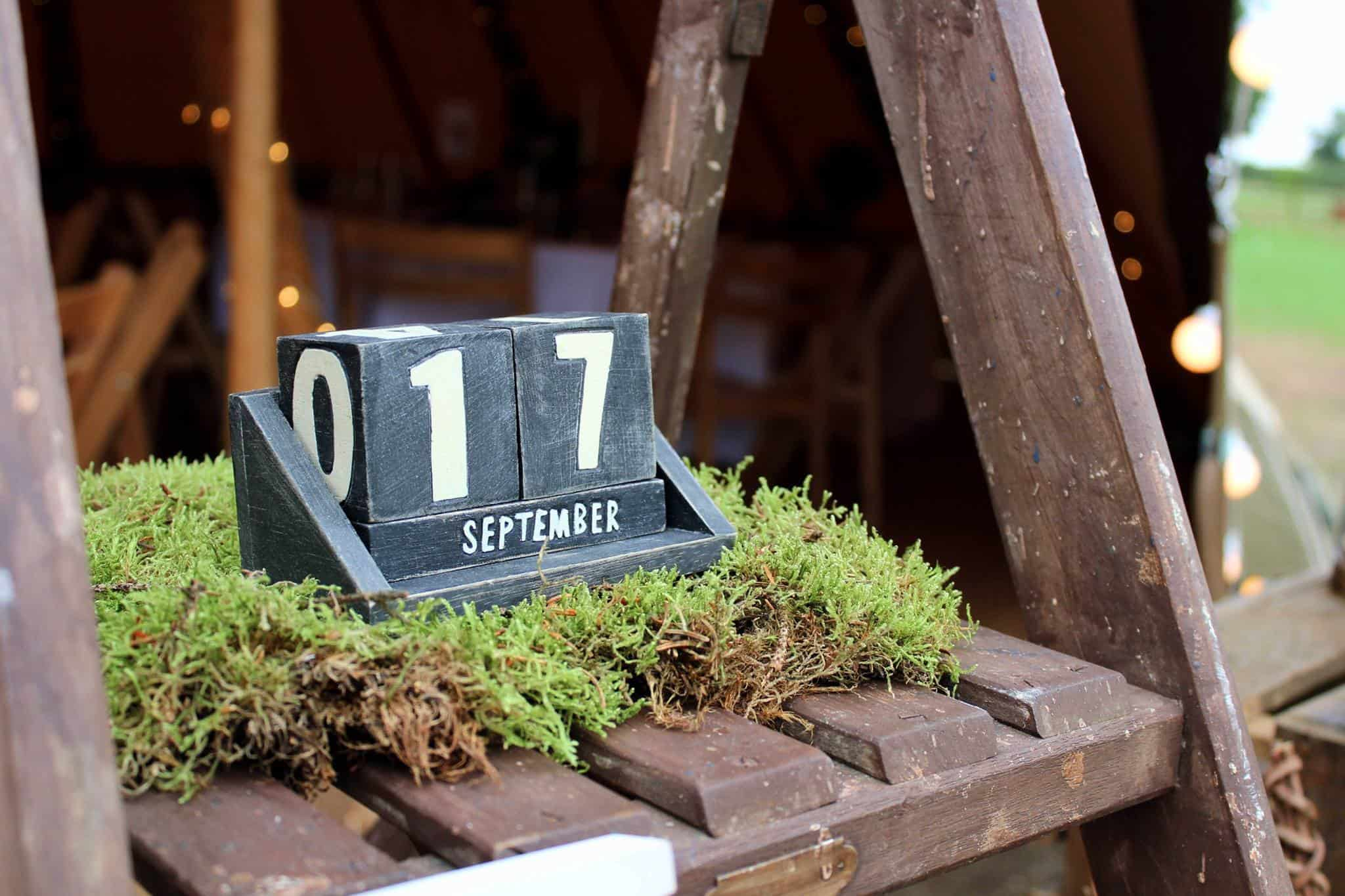 Rustic Ladders & Moss - Woodland themed styling by The Rustic Wedding Company